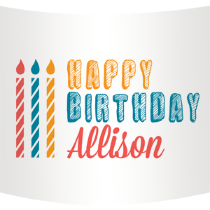 Happy Birthday Water Bottle Custom Label